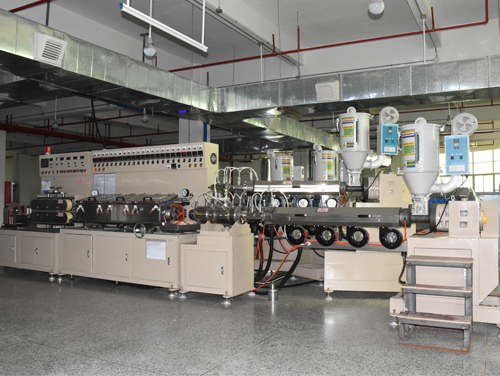 PE cosmetic tube extruding machine