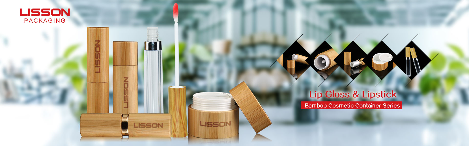 Bamboo Cosmetic Packaging Containers