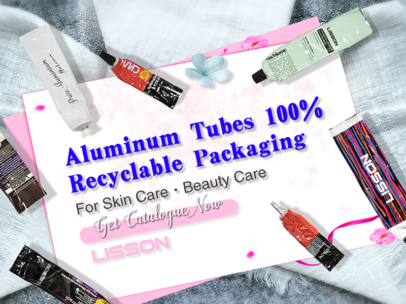 99.7% Aluminum Cosmetic Tube for eco friendly packaging